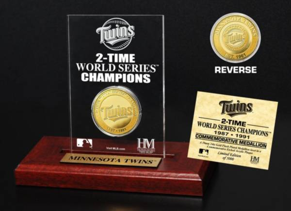 Highland Mint Minnesota Twins World Series Championship Gold Coin Etched Acrylic product image