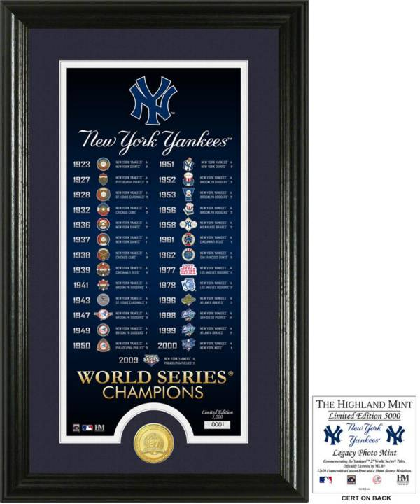 Highland Mint New York Yankees 'Legacy' Supreme Bronze Coin Photo Mint product image