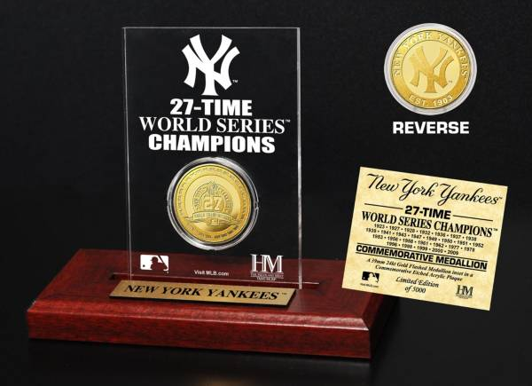 Highland Mint New York Yankees Gold Mint Coin Acrylic Desktop Display product image