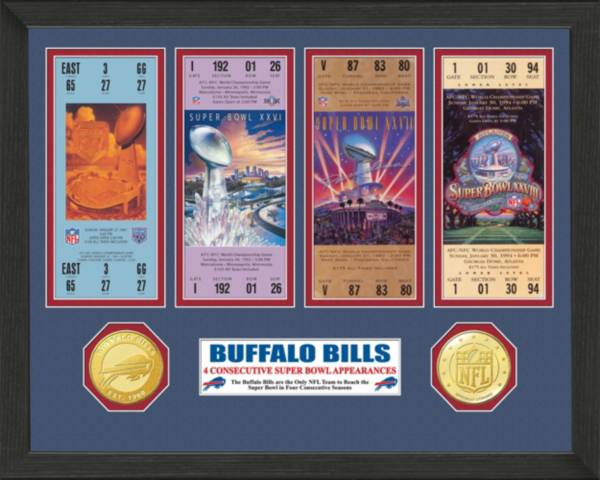 The Highland Mint Buffalo Bills 4 Consecutive Super Bowl Appearances Ticket Collection product image