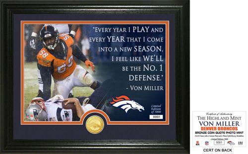 17b436799 Highland Mint Denver Broncos Von Miller