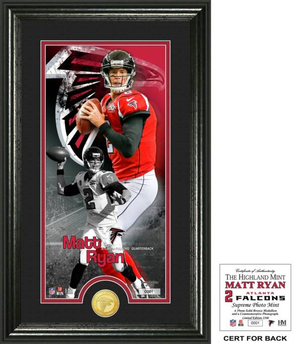 Highland Mint Atlanta Falcons Matt Ryan Supreme Bronze Coin Photo Mint product image
