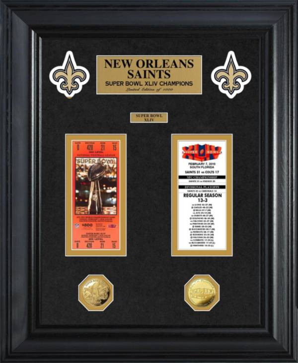 The Highland Mint New Orleans Saints Super Bowl Ticket and Coin Collection product image