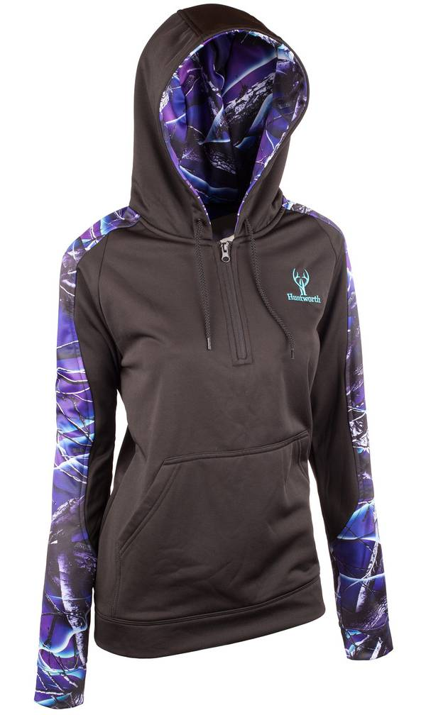 Huntworth Women's Lifestyle 1/4 Zip Hoodie product image