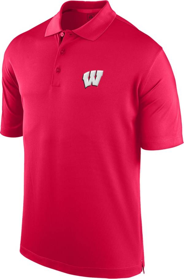 J. America Men's Wisconsin Badgers Red Spector Polo product image