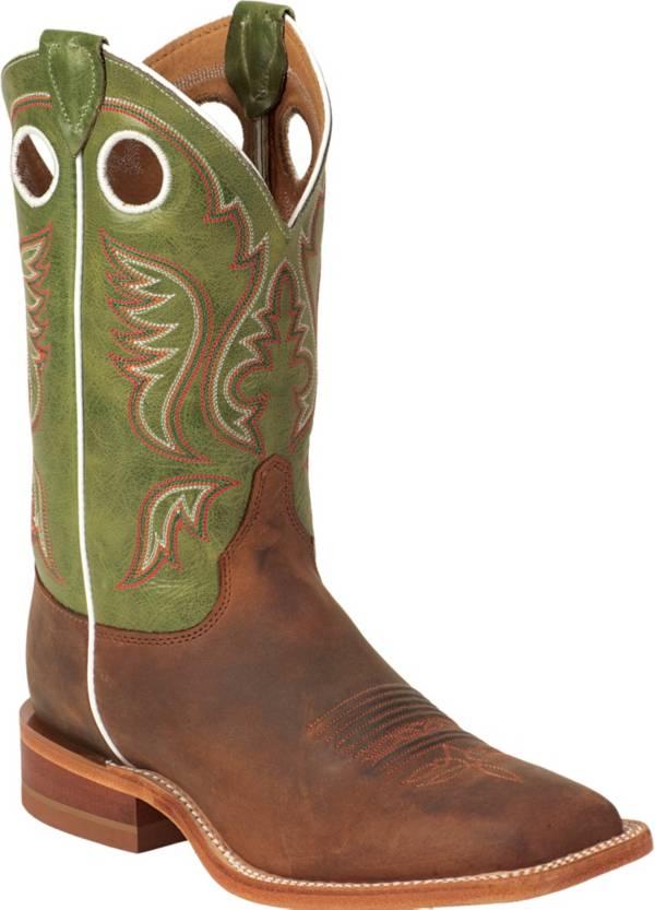 Justin Men's Cognac Bent Rail Square Toe Western Boots product image