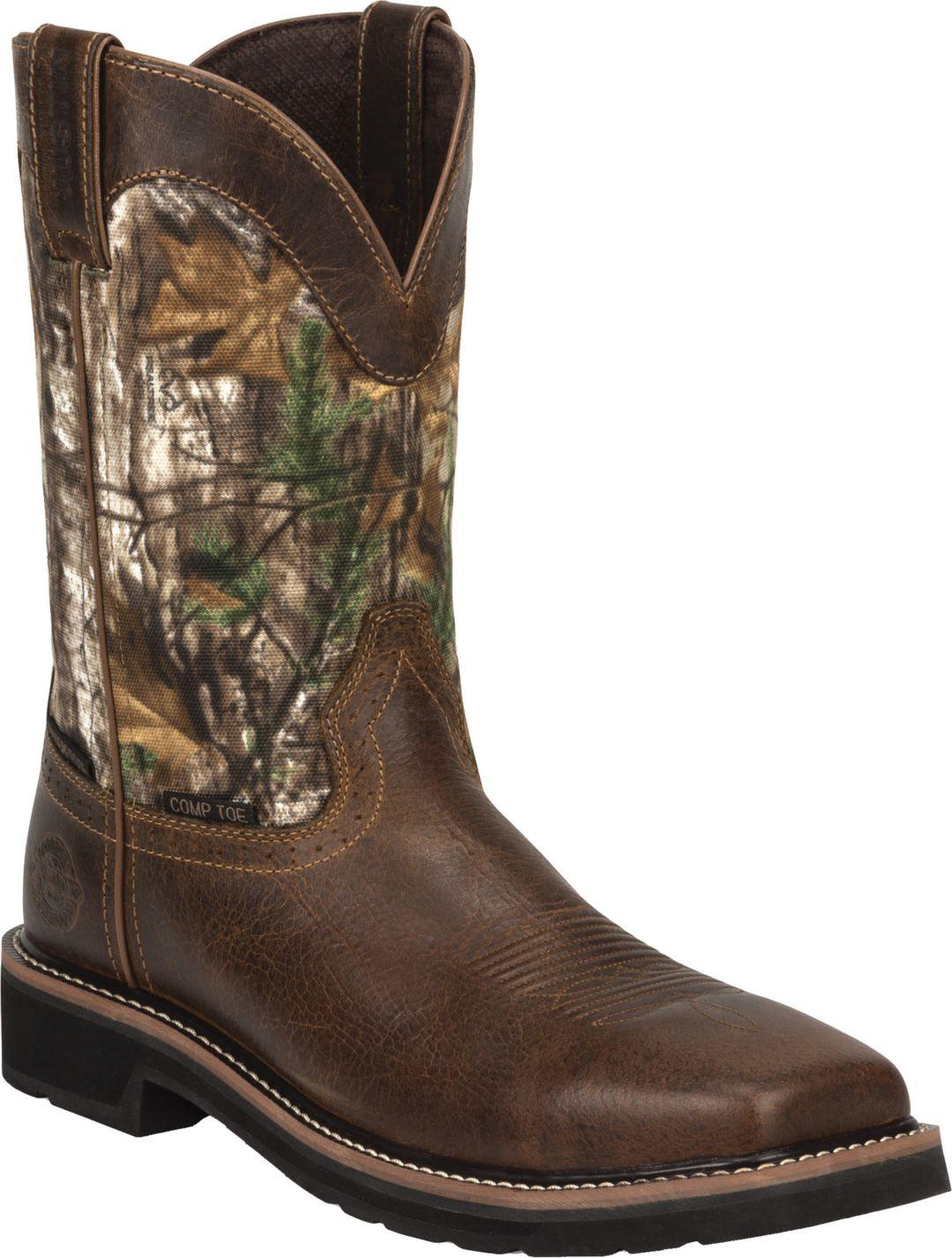 0a2b4ead15d2e Justin Men's Stampede EH Waterproof Composite Toe Work Boots. noImageFound.  1