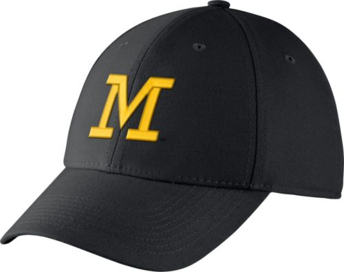 6824ec42dbb Jordan Men s Michigan Wolverines Blue Dri-FIT Wool Swoosh Flex Hat.  noImageFound. Previous