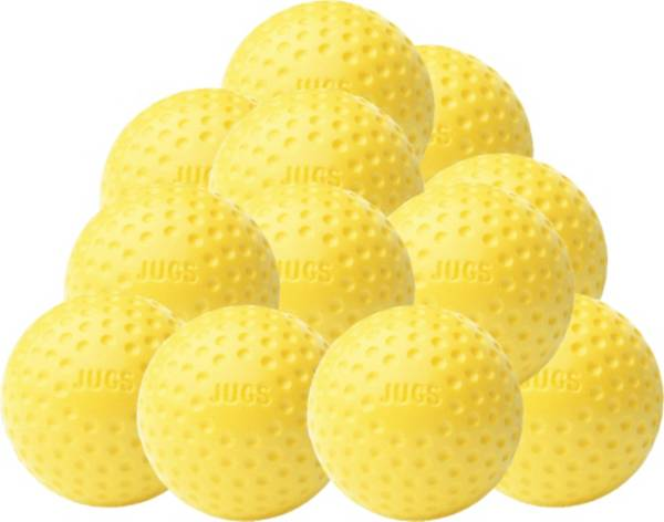 Jugs Sting-Free Dimpled Yellow Baseballs - 12 Pack product image