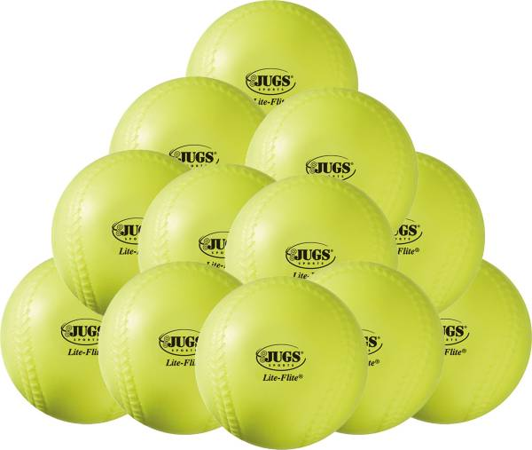 "Jugs 12"" Lite-Flite Practice Softballs - 12 Pack product image"