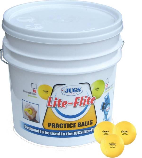 Jugs Lite-Flite Pitching Machine Bucket of Baseballs - 18 Pack product image