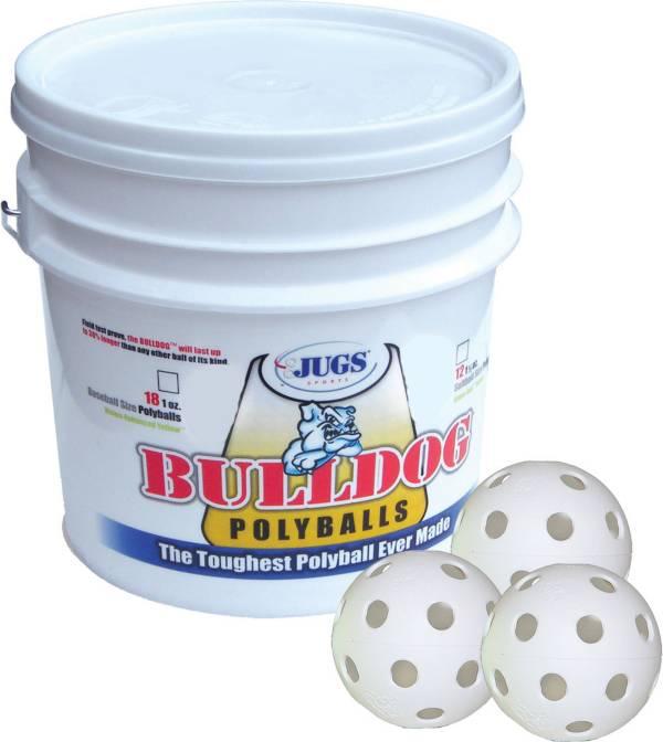 Jugs Bulldog White Poly Training Baseballs - Bucket of 18 product image