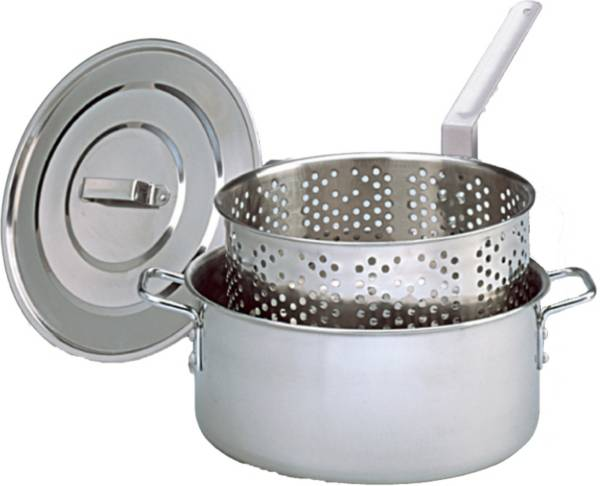 King Kooker 10 Quart Stainless Steel Deep Fryer Pan with Lid and Basket product image
