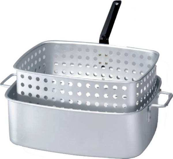 King Kooker 15 Quart Rectangular Aluminum Deep Fryer Pan with Handles and Basket product image