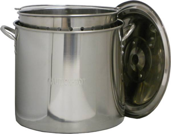 King Kooker 22 Quart Stainless Steel Pot with Basket and Lid product image