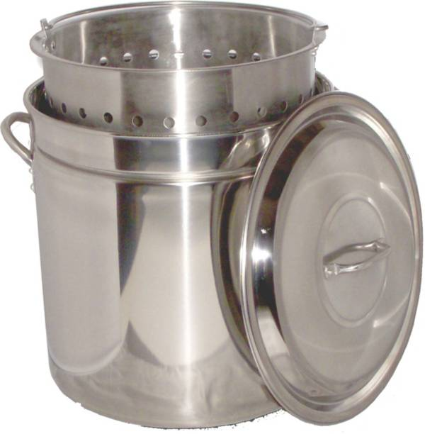 King Kooker 24 Quart Stainless Steel Boiling Pot with Steam Rim product image