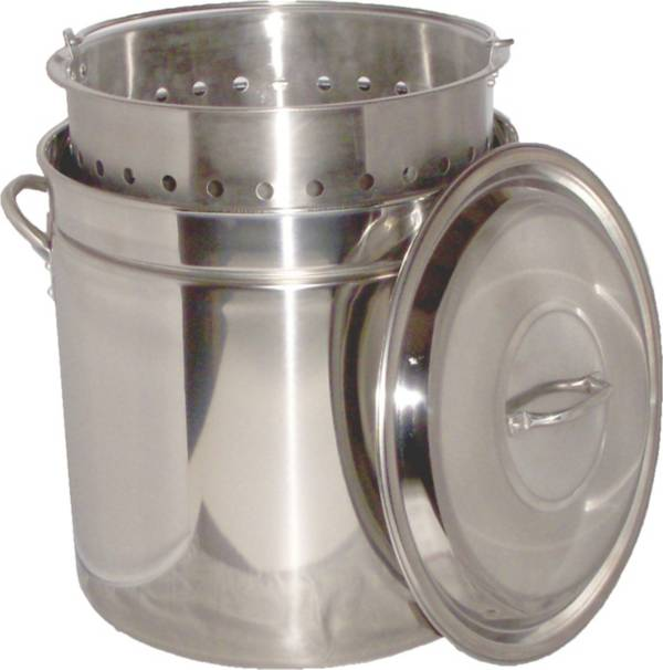 King Kooker 62 Quart Stainless Steel Boiling Pot with Steam Rim product image