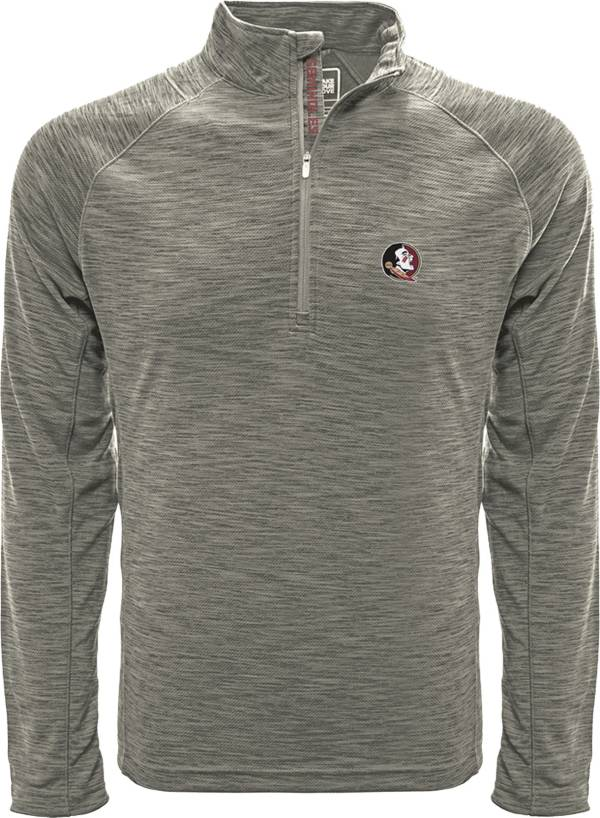 Levelwear Men's Florida State Seminoles Grey Mobility Long Sleeve Quarter-Zip Shirt product image