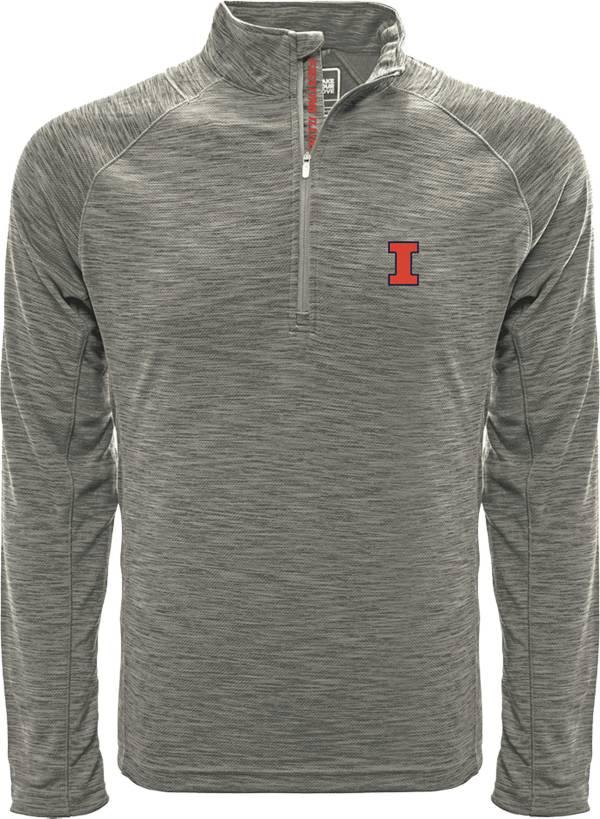 Levelwear Men's Illinois Fighting Illini Grey Mobility Long Sleeve Quarter-Zip Shirt product image