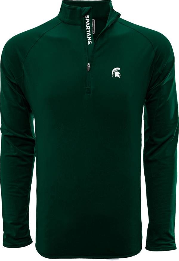 Levelwear Men's Michigan State Spartans Green Metro Quarter-Zip Pullover product image