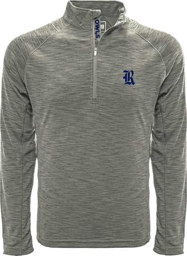 Levelwear Men's Rice Owls Grey Mobility Long Sleeve Quarter-Zip Shirt product image