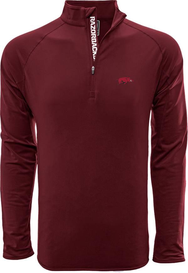 Levelwear Men's Arkansas Razorbacks Cardinal Metro Quarter-Zip Pullover product image