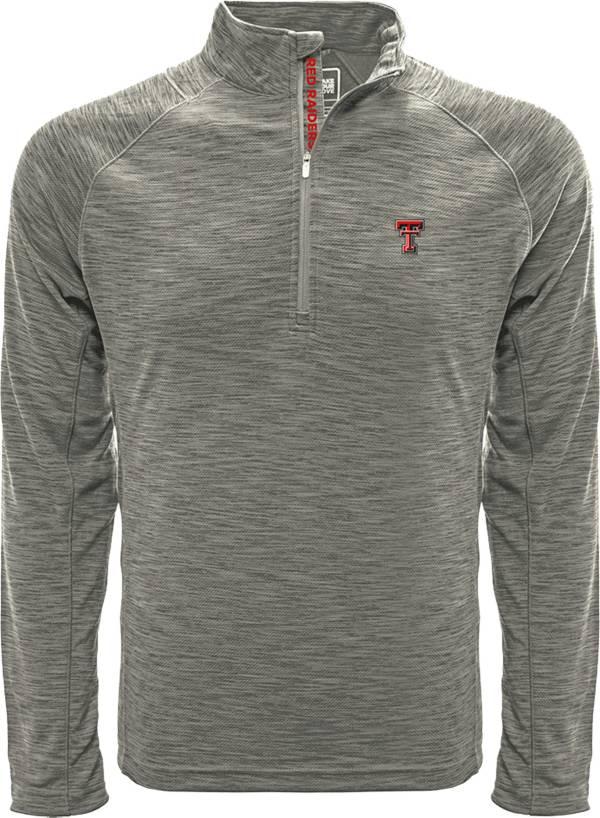 Levelwear Men's Texas Tech Red Raiders Grey Mobility Long Sleeve Quarter-Zip Shirt product image