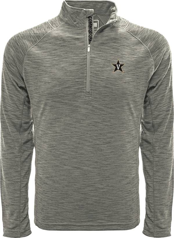 Levelwear Men's Vanderbilt Commodores Grey Mobility Long Sleeve Quarter-Zip Shirt product image