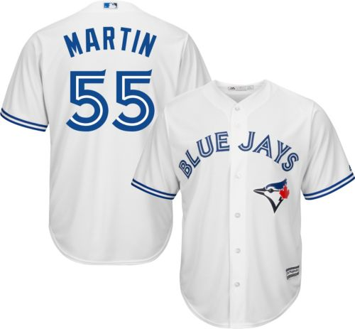 e90a3a9e7 Majestic Men s Replica Toronto Blue Jays Russell Martin  55 Cool Base Home  White Jersey. noImageFound. Previous