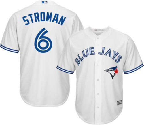 827a28c405c Majestic Men s Replica Toronto Blue Jays Marcus Stroman  6 Cool Base Home  White Jersey. noImageFound. Previous
