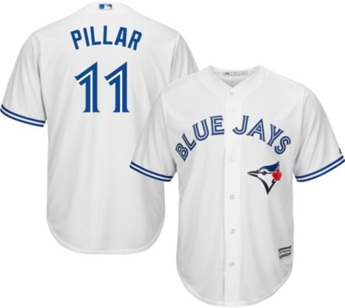 c24017ce9f0 Majestic Men s Replica Toronto Blue Jays Kevin Pillar  11 Cool Base Home  White Jersey. noImageFound. Previous