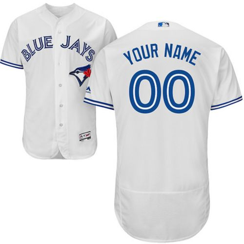 2dad4f24014 Majestic Men s Custom Authentic Toronto Blue Jays Flex Base Home ...
