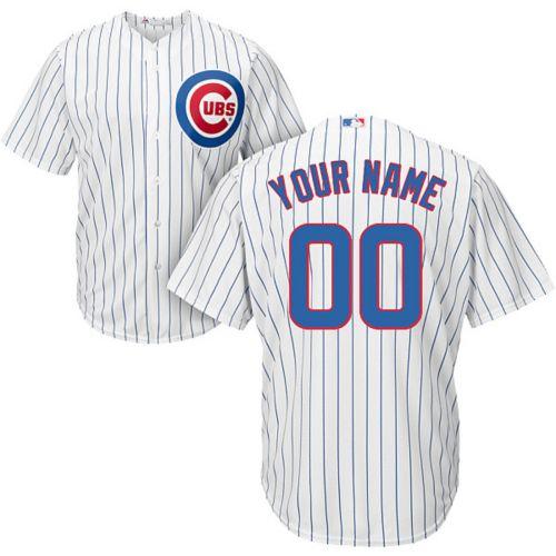f1f7de89cf2 Majestic Men s Custom Cool Base Replica Chicago Cubs Home White ...