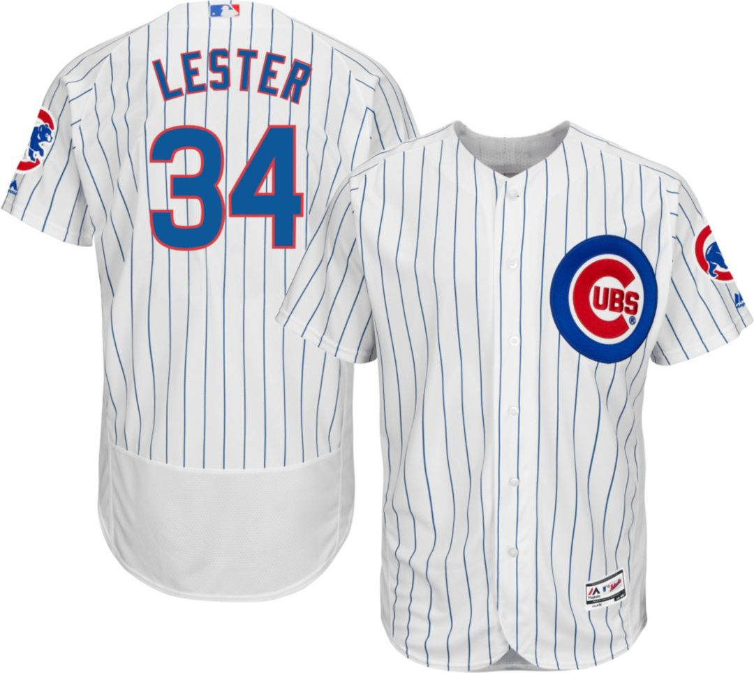 cheaper ce3e6 337d5 Majestic Men's Authentic Chicago Cubs Jon Lester #34 Home White Flex Base  On-Field Jersey