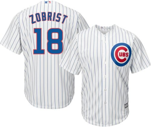 f5bbb7bf5 Majestic Men s Replica Chicago Cubs Ben Zobrist  18 Cool Base Home White  Jersey. noImageFound. Previous