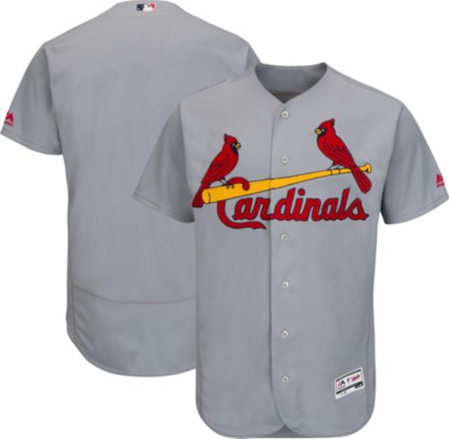 f72b765ce Majestic Men s Authentic St. Louis Cardinals Road Grey Flex Base On-Field  Jersey. noImageFound. Previous