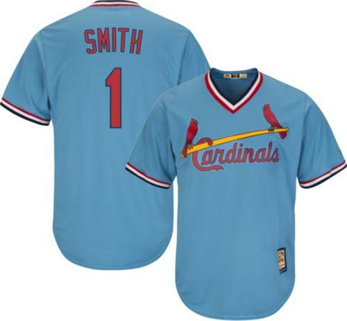 0a3509d1522 Majestic Men s Replica St. Louis Cardinals Ozzie Smith Cool Base Light Blue  Cooperstown Jersey. noImageFound. Previous
