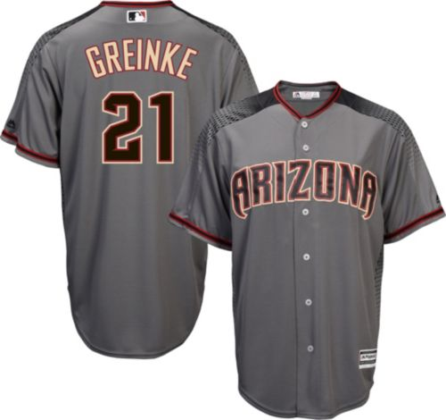 Majestic Men s Replica Arizona Diamondbacks Zack Greinke  21 Cool Base Road  Grey Jersey. noImageFound. Previous 6b7549f1f