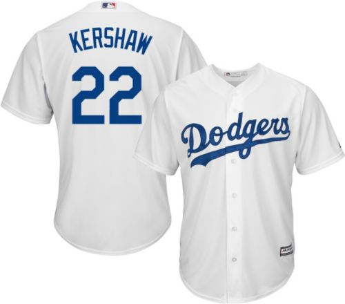 36b372747 Majestic Men s Replica Los Angeles Dodgers Clayton Kershaw  22 Cool Base  Home White Jersey. noImageFound. Previous