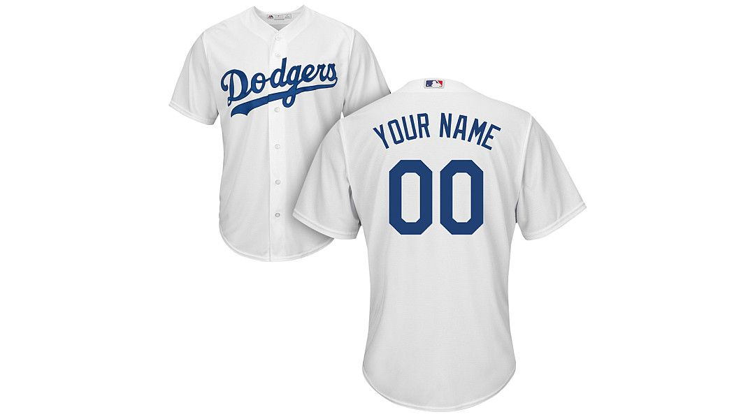 d8ff11daecd107 Majestic Men's Custom Cool Base Replica Los Angeles Dodgers Home ...