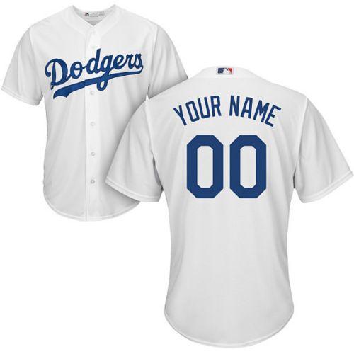 0f156ca3036 Majestic Men s Custom Cool Base Replica Los Angeles Dodgers Home ...
