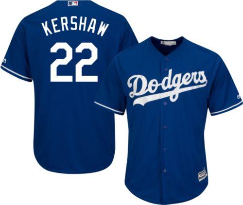 89ff58790 Majestic Men s Replica Los Angeles Dodgers Clayton Kershaw  22 Cool Base  Alternate Royal Jersey. noImageFound. Previous