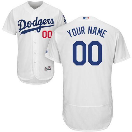 Majestic Men s Custom Authentic Los Angeles Dodgers Flex Base Home ... aeca9f0ae
