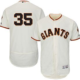 new product 8bf6f 27b4f Majestic Men's Authentic San Francisco Giants Brandon Crawford #35 Home  Ivory Flex Base On-Field Jersey