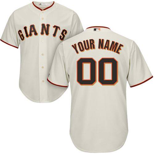 26a00811127 Majestic Men s Custom Cool Base Replica San Francisco Giants Home ...