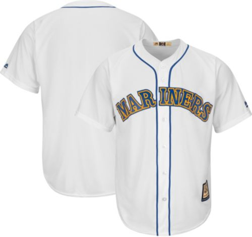 572540141 Majestic Men s Replica Seattle Mariners Cool Base White Cooperstown Jersey.  noImageFound. Previous