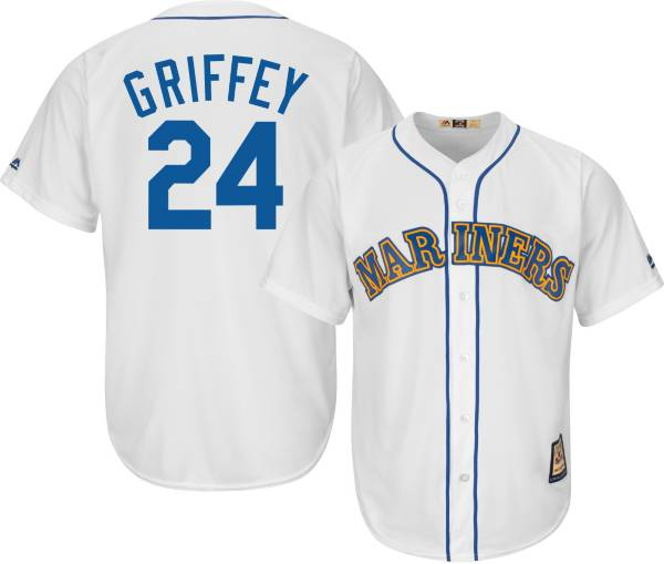 Majestic Men's Replica Seattle Mariners Ken Griffey Jr. Cool Base White Cooperstown Jersey product image