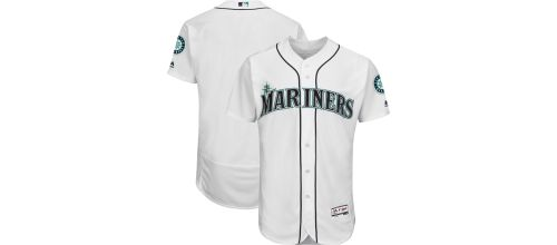 c0967aaeb Majestic Men's Authentic Seattle Mariners Home White Flex Base On-Field  Jersey. noImageFound. Previous
