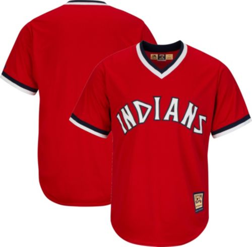 7324537b5 Majestic Men's Replica Cleveland Indians Cool Base Red Cooperstown ...