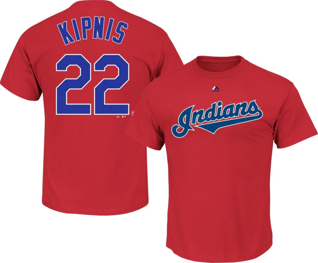 detailed look 26b54 266bb Majestic Men's Cleveland Indians Jason Kipnis #22 Red T-Shirt